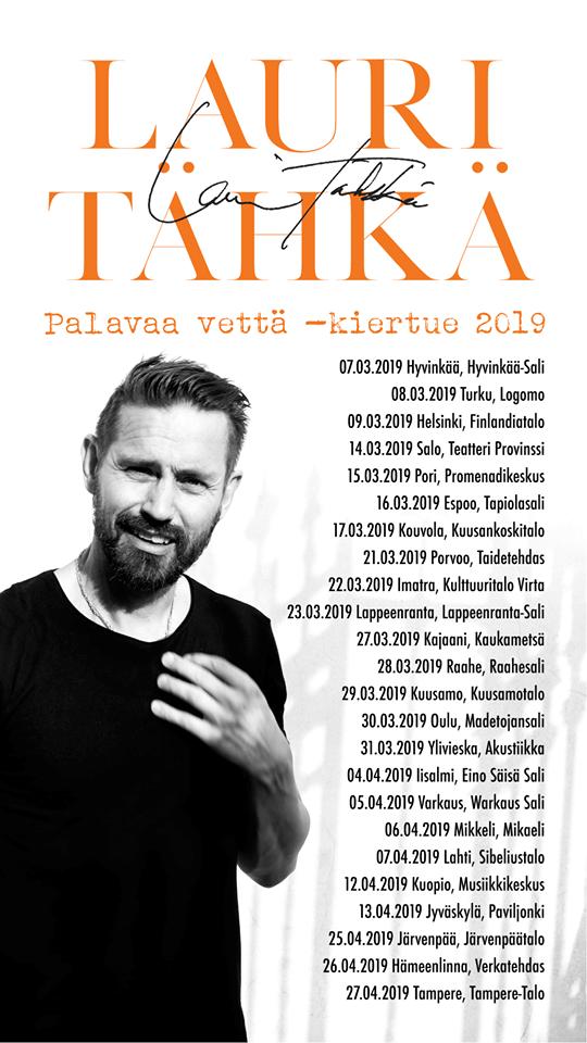 Palavaa vettä -kiertue 2019